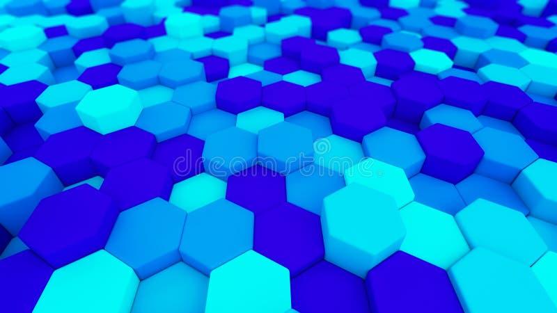 Ψηφιακά στοιχεία Hexagon μορφή στη δομή του technol αρχιτεκτονικής ελεύθερη απεικόνιση δικαιώματος
