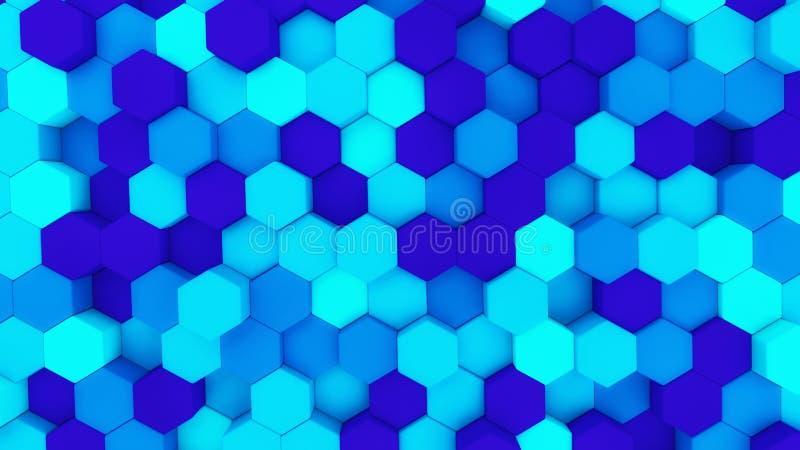 Ψηφιακά στοιχεία Hexagon μορφή στη δομή του technol αρχιτεκτονικής διανυσματική απεικόνιση