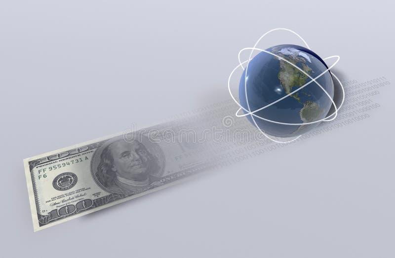 ψηφιακά χρήματα διανυσματική απεικόνιση