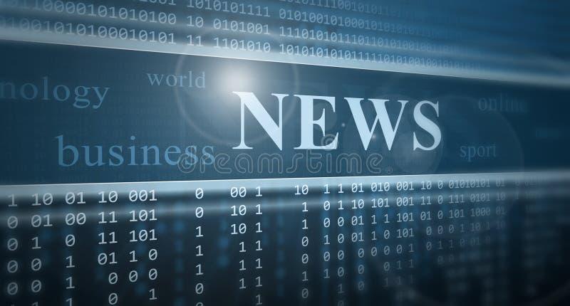 Ψηφιακές ειδήσεις διανυσματική απεικόνιση