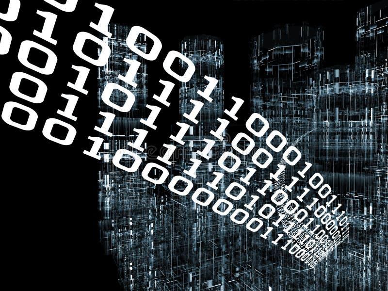 ψηφιακές πληροφορίες πόλ&ep ελεύθερη απεικόνιση δικαιώματος