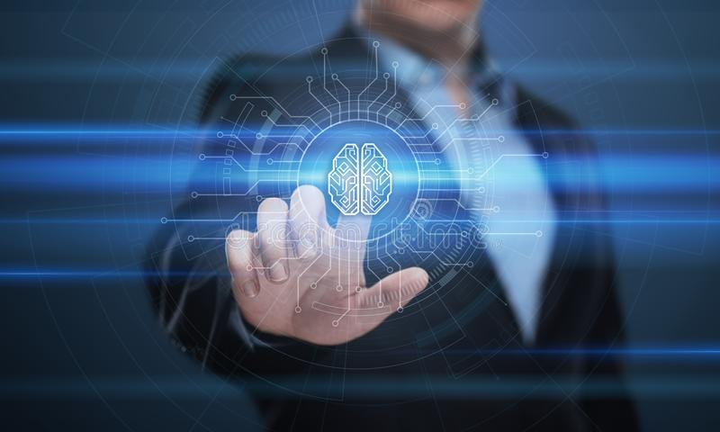 Ψηφιακή έννοια δικτύων Ίντερνετ επιχειρησιακής τεχνολογίας εκμάθησης μηχανών AI τεχνητής νοημοσύνης εγκεφάλου