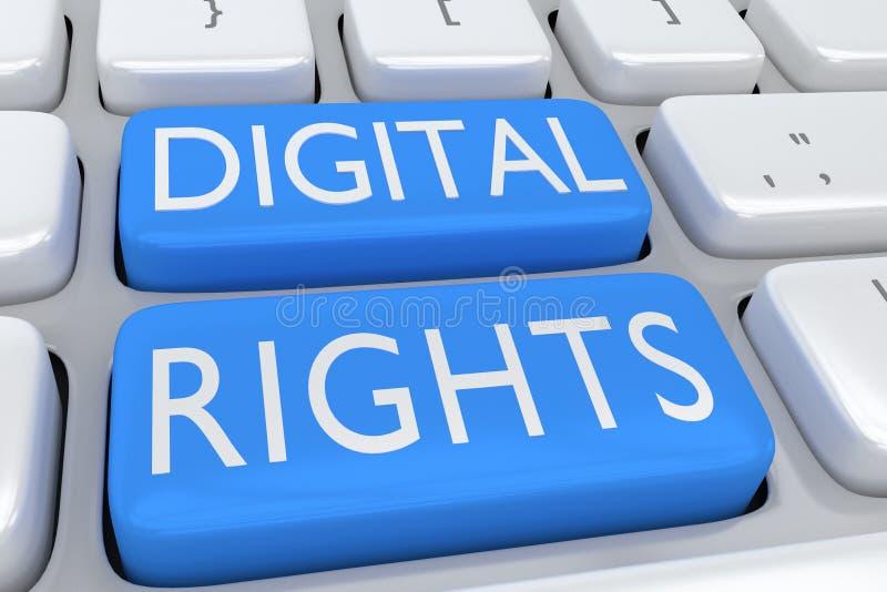 Ψηφιακή έννοια δικαιωμάτων απεικόνιση αποθεμάτων