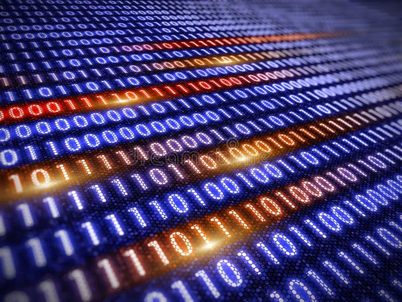 Ψηφιακή έννοια πληροφοριών - binare υπόβαθρο κώδικα διανυσματική απεικόνιση