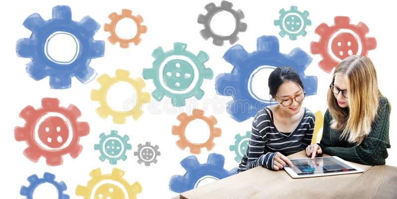 Ψηφιακή έννοια τεχνολογίας συνεργασίας βαραίνω απεικόνιση αποθεμάτων