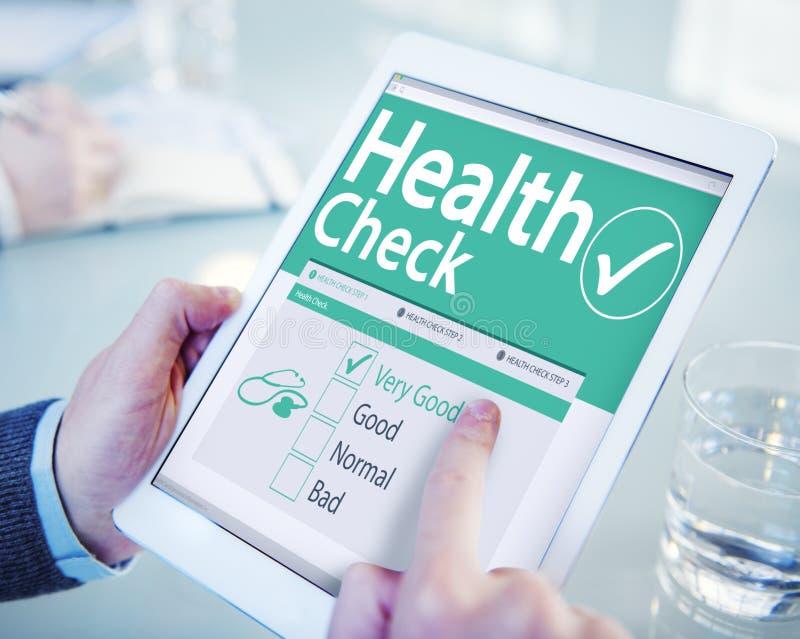 Ψηφιακή έννοια υγειονομικής περίθαλψης ελέγχου υγείας στοκ εικόνες