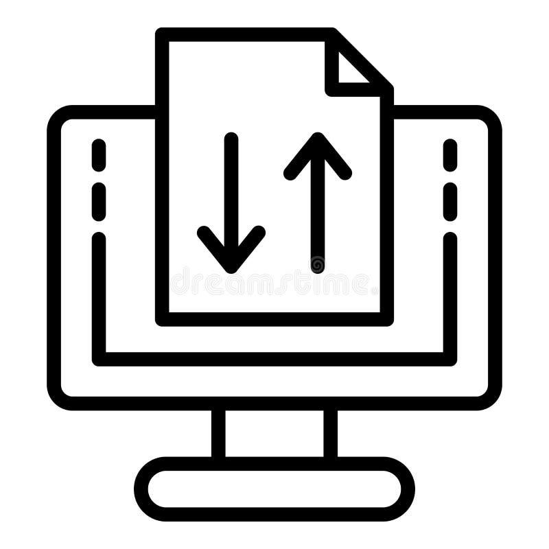 Ψηφιακή αναλογική μεταλλαγή του εικονιδίου εγγράφων, ύφος περιλήψεων απεικόνιση αποθεμάτων