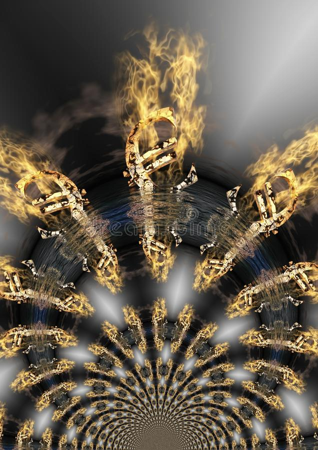Ψηφιακή απεικόνιση του ευρο- Crysis ελεύθερη απεικόνιση δικαιώματος