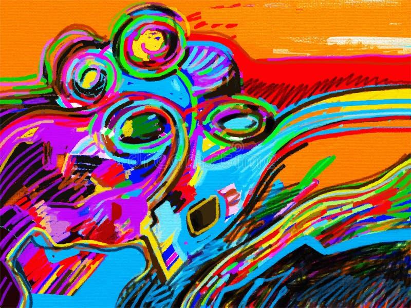 Ψηφιακή αφηρημένη σύνθεση ζωγραφικής ελεύθερη απεικόνιση δικαιώματος