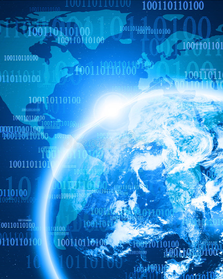 Ψηφιακή γη διανυσματική απεικόνιση