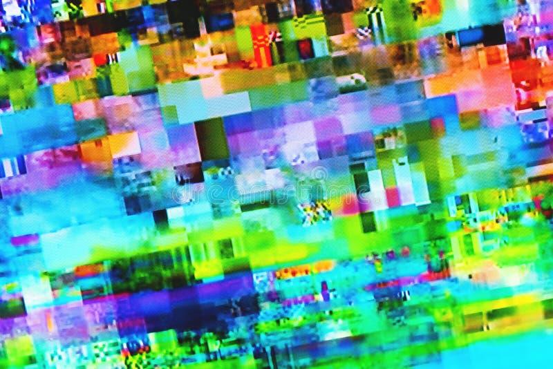 Ψηφιακή δυσλειτουργία TV στην τηλεοπτική οθόνη στοκ φωτογραφία με δικαίωμα ελεύθερης χρήσης