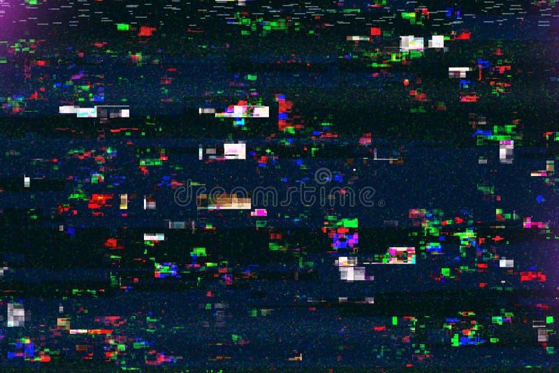 Ψηφιακή ζημία TV, δυσλειτουργία τηλεοπτικής ραδιοφωνικής μετάδοσης στοκ εικόνα με δικαίωμα ελεύθερης χρήσης