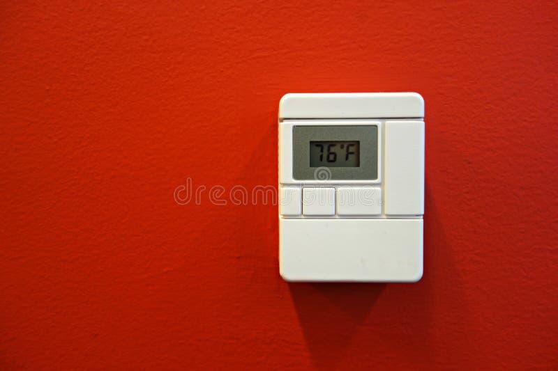 Ψηφιακή θερμοστάτης στοκ φωτογραφίες με δικαίωμα ελεύθερης χρήσης