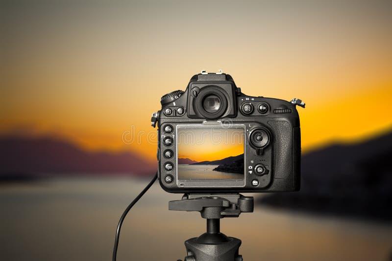 Ψηφιακή κάμερα η άποψη νύχτας στοκ εικόνες