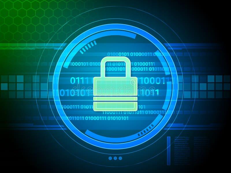 Ψηφιακή κλειδαριά ασφάλειας ελεύθερη απεικόνιση δικαιώματος