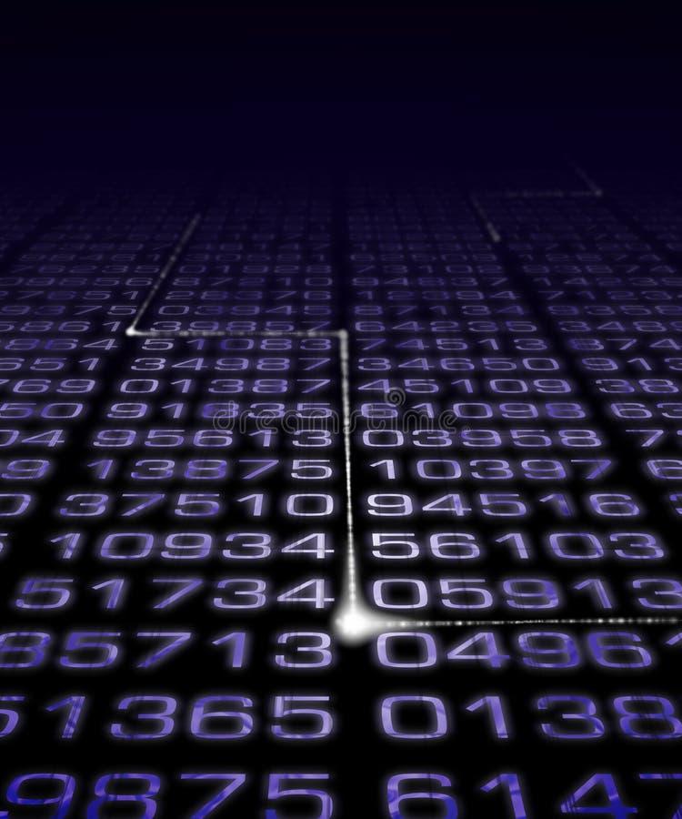 Ψηφιακή μήτρα αριθμού απεικόνιση αποθεμάτων