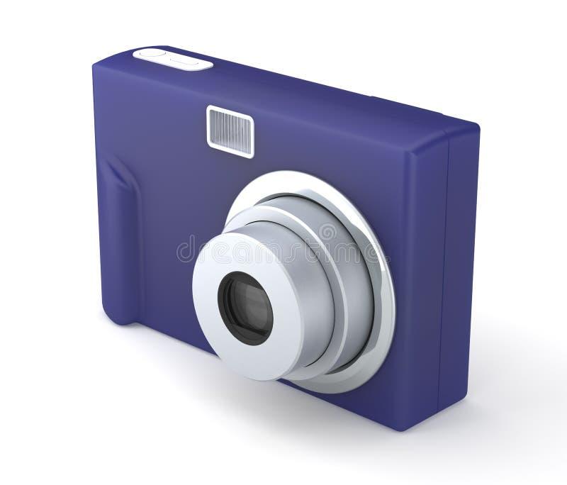 Ψηφιακή συμπαγής κάμερα φωτογραφιών στο λευκό απεικόνιση αποθεμάτων