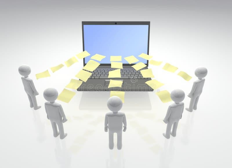 Ψηφιακή συνεργασία προγράμματος διανυσματική απεικόνιση