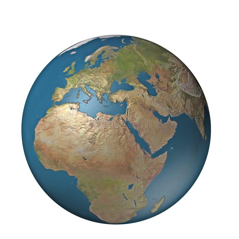 ψηφιακή σφαίρα της Ευρώπης διανυσματική απεικόνιση