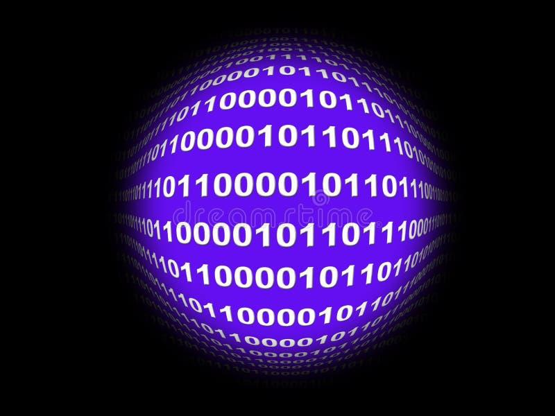 Ψηφιακή σφαίρα διανυσματική απεικόνιση