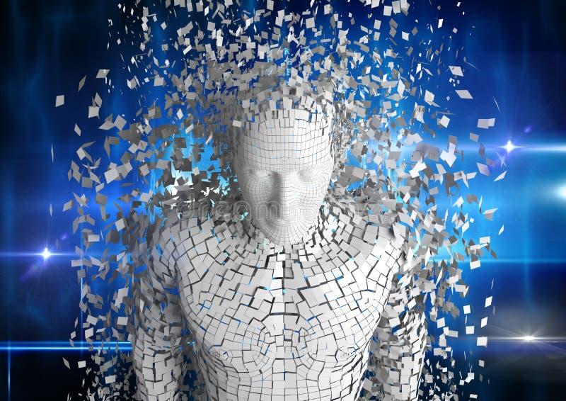 Ψηφιακή σύνθετη εικόνα του τρισδιάστατου προσώπου στοκ εικόνες με δικαίωμα ελεύθερης χρήσης