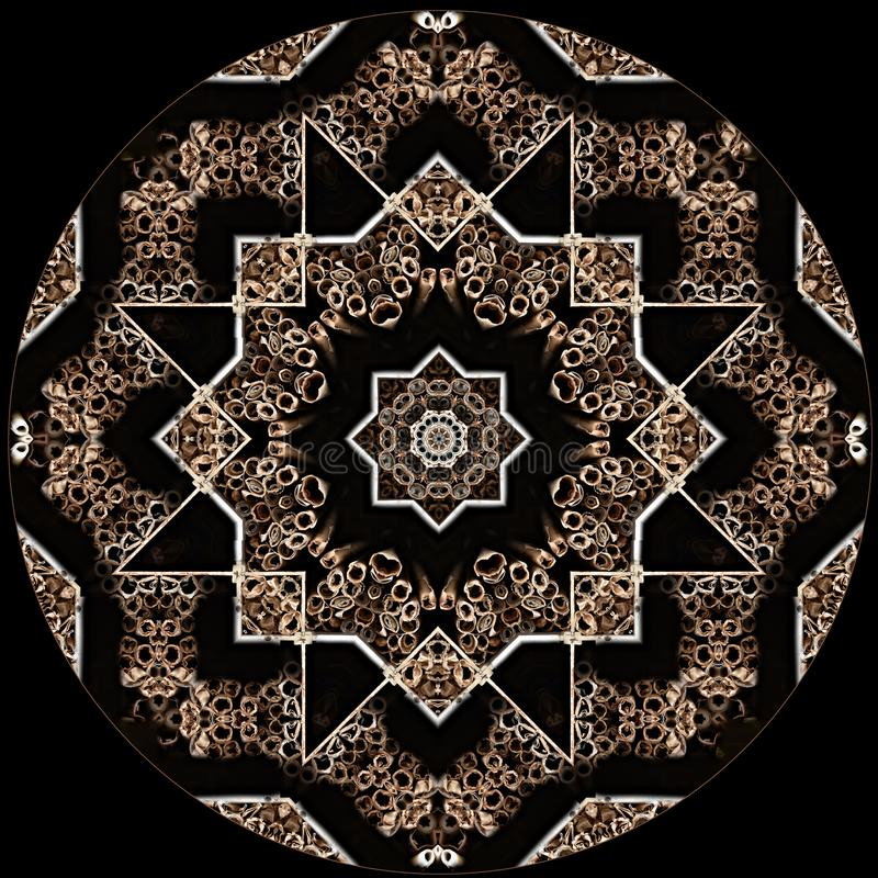 Ψηφιακή σύσταση αστεριών σχεδίου τέχνης στο Μαύρο διανυσματική απεικόνιση