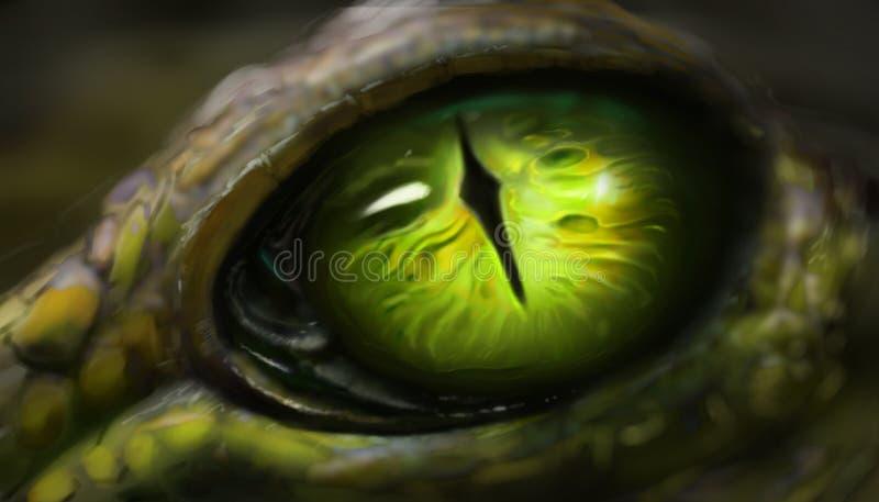 Ψηφιακή τέχνη των ματιών σαυρών διανυσματική απεικόνιση