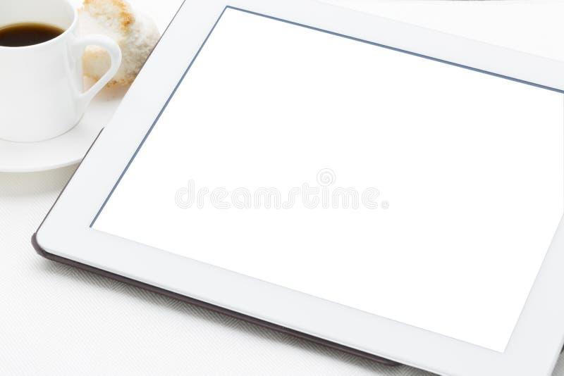 Ψηφιακή ταμπλέτα με απομονωμένη τη λευκό οθόνη στοκ εικόνες με δικαίωμα ελεύθερης χρήσης