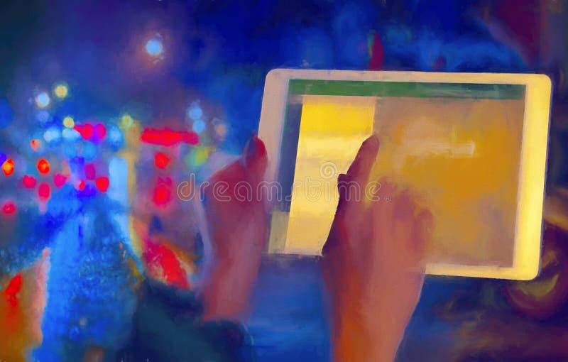 Ψηφιακή ταμπλέτα απεικόνιση αποθεμάτων