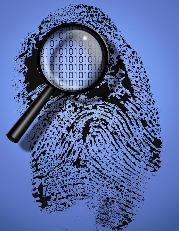 ψηφιακή ταυτότητα διανυσματική απεικόνιση