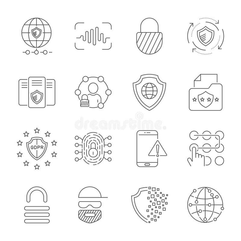 Ψηφιακή τεχνολογία, ασφάλεια, προστασία, καινοτομία στον κυβερνοχώρο o 10 eps απεικόνιση αποθεμάτων