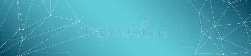 Ψηφιακή τεχνολογία επικοινωνιών καλωδίων, συνδεδεμένες γραμμές και γεωμετρικό αφηρημένο διανυσματικό ευρύ υπόβαθρο εμβλημάτων σημ ελεύθερη απεικόνιση δικαιώματος