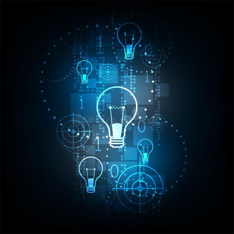 Ψηφιακή τεχνολογία στην έννοια λαμπών φωτός στοκ φωτογραφίες με δικαίωμα ελεύθερης χρήσης