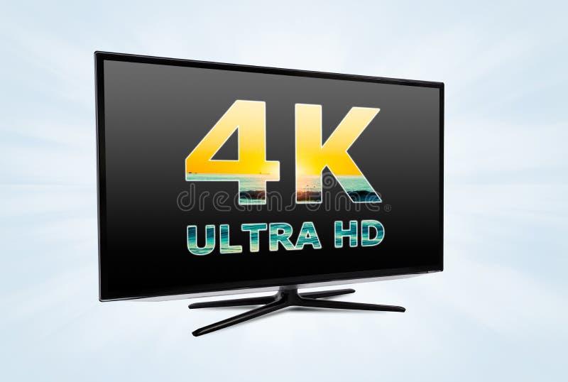 Ψηφιακή τεχνολογία τηλεοπτικής οθόνης UHD ελεύθερη απεικόνιση δικαιώματος