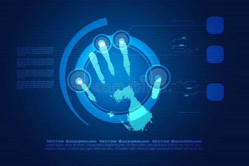 ψηφιακή τυπωμένη ύλη χεριών διανυσματική απεικόνιση