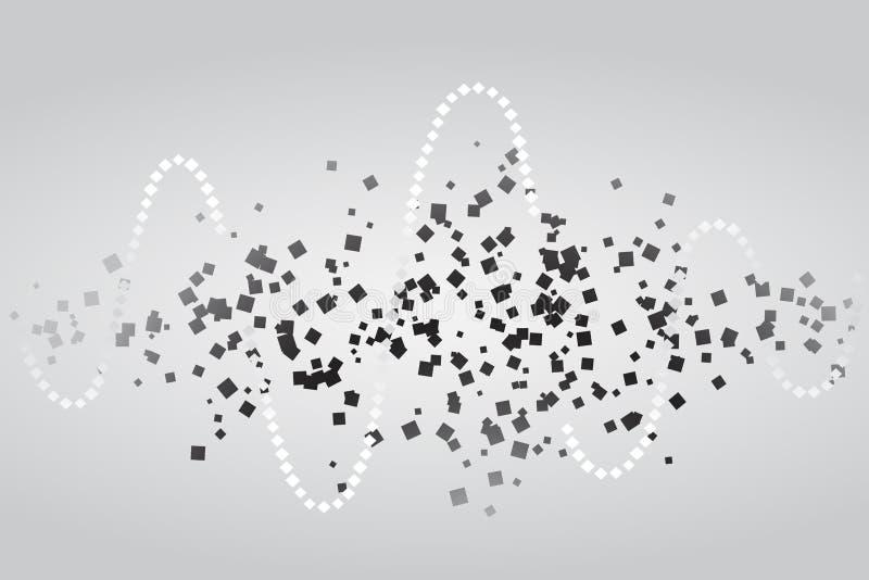 Ψηφιακός εξισωτής μουσικής επίσης corel σύρετε το διάνυσμα απεικόνισης διανυσματική απεικόνιση