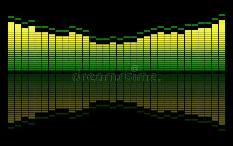 ψηφιακός εξισώστε τον ήχο ελεύθερη απεικόνιση δικαιώματος
