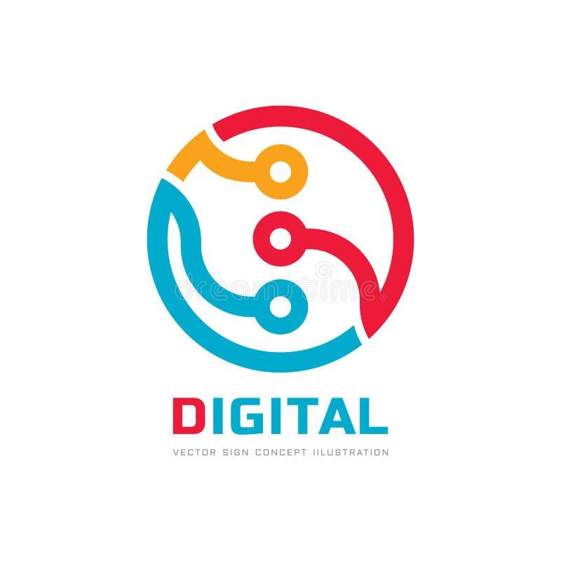 Ψηφιακός επεξεργαστής ΚΜΕ - διανυσματικό πρότυπο λογότυπων για την εταιρική ταυτότητα Αφηρημένο σημάδι τσιπ υπολογιστή Δίκτυο, τε διανυσματική απεικόνιση