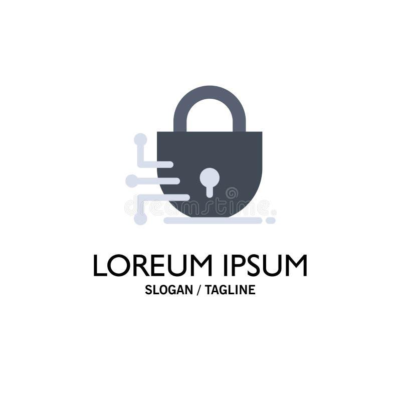 Ψηφιακός, κλειδαριά, πρότυπο επιχειρησιακών λογότυπων τεχνολογίας Επίπεδο χρώμα διανυσματική απεικόνιση