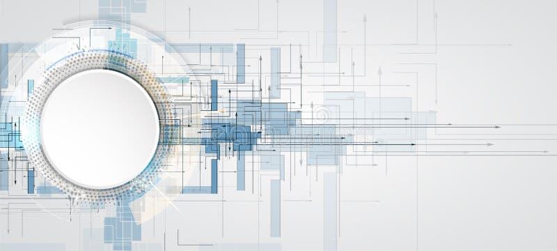 Ψηφιακός κόσμος τεχνολογίας Επιχειρησιακή εικονική έννοια διάνυσμα ελεύθερη απεικόνιση δικαιώματος