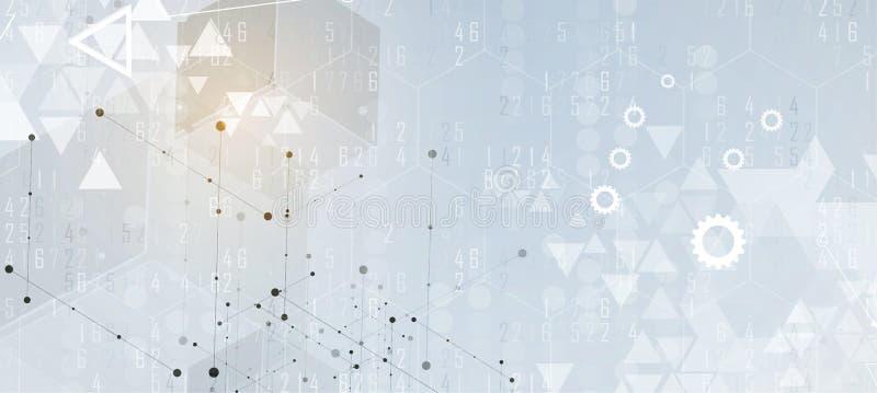 Ψηφιακός κόσμος τεχνολογίας Επιχειρησιακή εικονική έννοια Διάνυσμα backg απεικόνιση αποθεμάτων