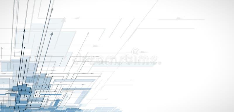 Ψηφιακός κόσμος τεχνολογίας Επιχειρησιακή εικονική έννοια Διάνυσμα backg ελεύθερη απεικόνιση δικαιώματος