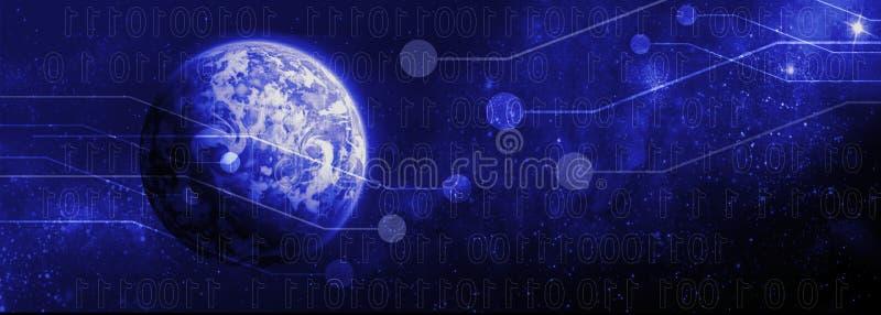 Ψηφιακός κόσμος διανυσματική απεικόνιση