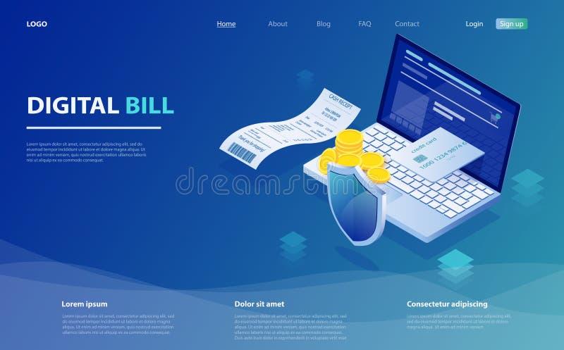 Ψηφιακός λογαριασμός και σε απευθείας σύνδεση τράπεζα, lap-top με την ταινία ελέγχου Lap-top, έλεγχος παραλαβών εγγράφου, σωρός τ ελεύθερη απεικόνιση δικαιώματος