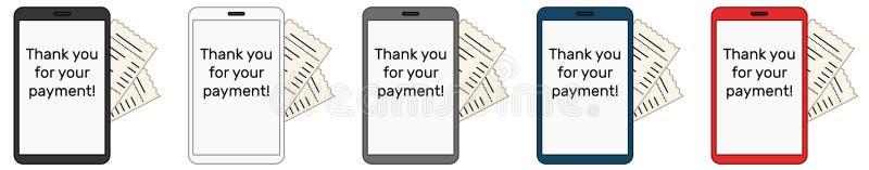 Ψηφιακός λογαριασμός στην πλευρά του συνόλου smartphone ελεύθερη απεικόνιση δικαιώματος