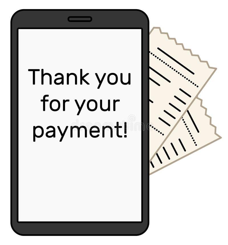 Ψηφιακός λογαριασμός στην πλευρά του smartphone απεικόνιση αποθεμάτων