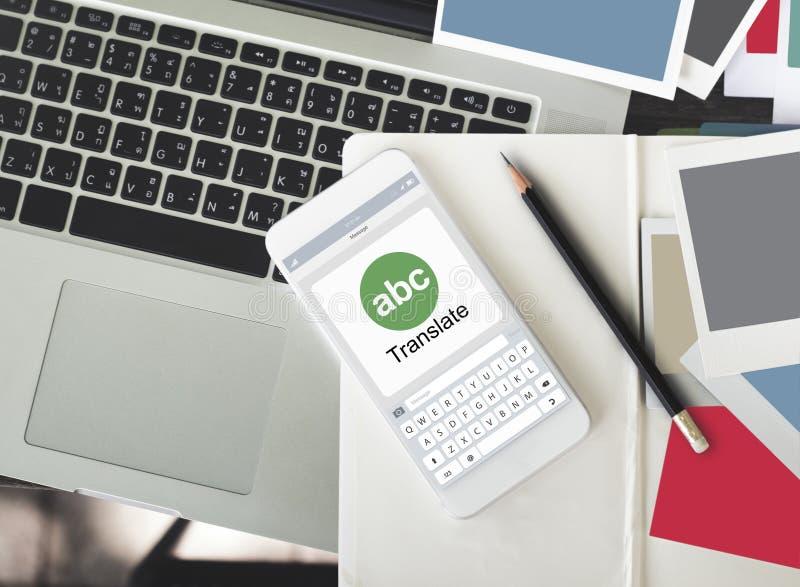 Ψηφιακός μεταφράστε τη σε απευθείας σύνδεση έννοια εφαρμογής στοκ φωτογραφία με δικαίωμα ελεύθερης χρήσης