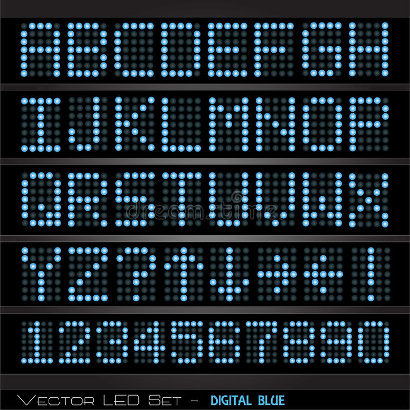 ψηφιακός πίνακας βαθμολογίας διανυσματική απεικόνιση
