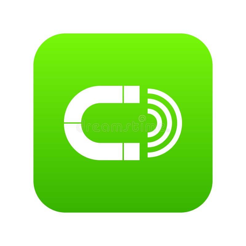 Ψηφιακός πράσινος εικονιδίων μαγνητών απεικόνιση αποθεμάτων