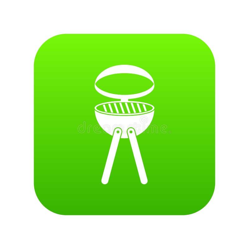 Ψηφιακός πράσινος εικονιδίων σχαρών σχαρών απεικόνιση αποθεμάτων